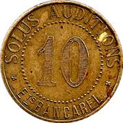10 Centimes - Solus Auditions Ets Bancarel (Paris) – reverse