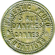 Phonograph Token - Majestic Phono Auditions (Cannes) – obverse