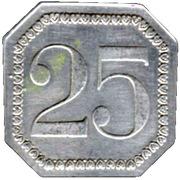 25 Centimes Prison Saint-Lazare - Paris [75] – reverse