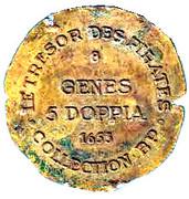 Token - Collection BP - Le Trésor des pirates (№8 - Genes 5 Doppia 1653) – reverse