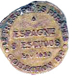 Token - Collection BP - Le Trésor des pirates (№6 - Espagne 8 Escudos Env. 1650) – reverse