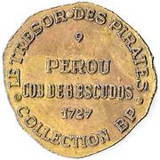 Token - Collection BP - Le Trésor des pirates (№9 - Pérou Cob de 8 escudos 1727) – reverse