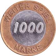 1000 Spiel Marke - California (Game Token) – reverse