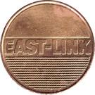 Car Toll Token - East-Link – obverse