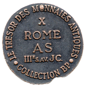 Token Collection BP - Le Trésor des Monnaies Antiques (№X - Roma As) – reverse