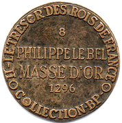 Token Collection BP - Le Trésor des Rois de France (№8 - Philippe le Bel) – reverse