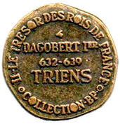 Token Collection BP - Le Trésor des Rois de France (№4 - Dagobert I) – reverse