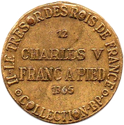 Token Collection BP - Le Trésor des Rois de France (№12 - Charles V) – reverse