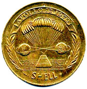 Shell Token - Man in Flight (#21 - Lovell, Haise & Swigert, Apollo 13, 1970) – reverse
