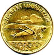 Shell Token - Man In Flight (Charles Lindbergh) – obverse