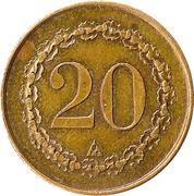20 Centimes – obverse