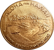 Hawaii Dollar (Honolulu; Waikiki Beach - Diamond Head) – obverse
