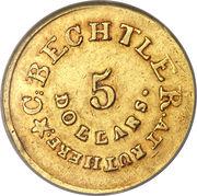 5 Dollars - C. Bechtler (Piedmont Gold Rush) – reverse