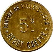 5 Centimes - Cantine de Villiers - Adam - Henri Crépin  [95] – obverse