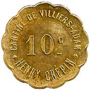 10 Centimes - Cantine de Villiers - Adam - Henri Crépin  [95] – obverse