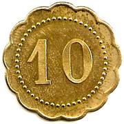 10 Centimes - Cantine de Villiers - Adam - Henri Crépin  [95] – reverse