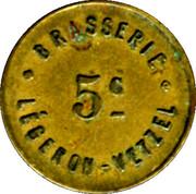 5 Centimes - Brasserie Légeron-Vetzel - Paris [75] – obverse