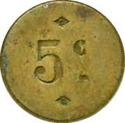 5 Centimes - Brasserie Légeron-Vetzel - Paris [75] – reverse