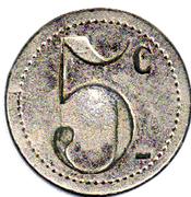 5 Centimes CALVAS Ganges (34) – reverse