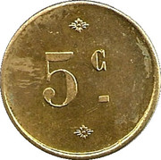 5 Centimes - Cantine de Villiers - Adam - Henri Crépin  [95] – reverse