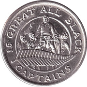 Token - 15 Great All Black Captains (Tane Norton) – reverse