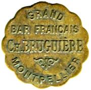 20 Centimes -Grand bar francais Ch. Bruguiere - Montpellier [34] – obverse