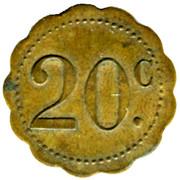 20 Centimes -Grand bar francais Ch. Bruguiere - Montpellier [34] – reverse