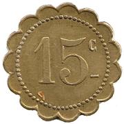 Grande Taverne Belfort  15 Centimes – reverse
