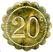 20 Centimes Café St Roch P.AVINENS - Montpellier [34] – reverse