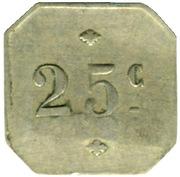 25 Centimes - La Bière - Paris [75] – reverse