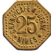 25 Centimes (Grand Café Moderne; Nîmes) – obverse