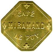25 Centimes Café Miramand - Le Puy [] – obverse
