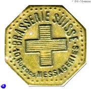 25 Centimes Brasserie Suisse - Paris [75] – obverse