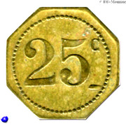 25 Centimes Brasserie Suisse - Paris [75] – reverse
