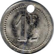 1 Franc Cantines Scolaires -Saint-Etienne [42] – reverse