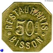 50 Centimes - Restaurants Bisson - Paris [75] – obverse