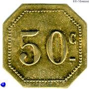50 Centimes - Restaurants Bisson - Paris [75] – reverse