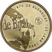 5 Guilders - De Bijenkorf  (125 years) – obverse