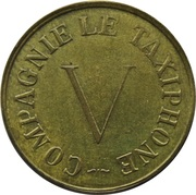 Telephone Token - Compagnie le Taxiphone V (20 mm; Brass) – obverse