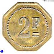 2 Francs -  Maison Saunière - Au cochon d'Or - Paris [75] – reverse