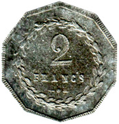 2 Francs - St Gobain, Chauny & Cirey - Sain-Bel [69] – reverse