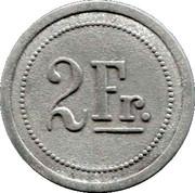 2 Francs (Restaurant Grande Taverne Vignette, Strasbourg) – reverse