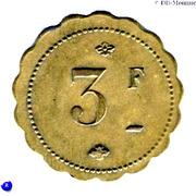3 Francs - Brasserie Suisse - Paris [75] – reverse