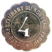 4 francs - Café Restaurant du Nouveau Paris - Paris [75] – reverse