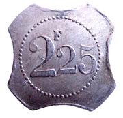 2,25 francs - Café de Paris - Douai (59) – reverse