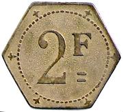 2 Francs - Taverne Edmond - Digne [04] – reverse