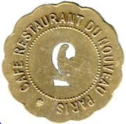 2 francs - Café Restaurant du Nouveau Paris - Paris [75] – obverse