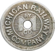 1 Jackson Fare - Michigan Railway Company – obverse