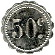 50 Centimes - Grand Café de France - Montpellier [34] – reverse