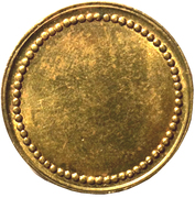 Coffee Machine Token (Blank with 63 beads; 21.15 mm) – obverse
